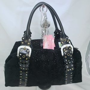 Charm & Luck Black Suede Leather With Extra Charms
